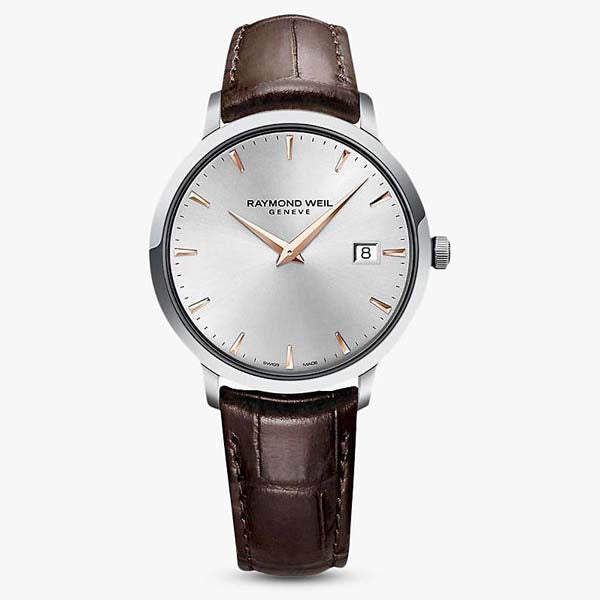 Raymond Weil Toccata in stainless steel on leather 5485-SL5-65001