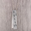 Patterned double panel pendant and chain in steel and silver