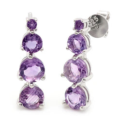 Amethyst earrings in silver