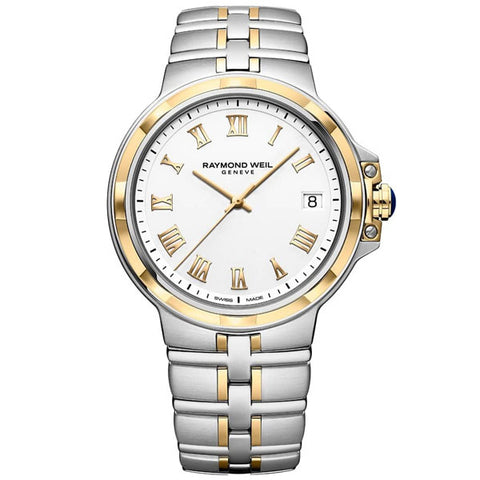 Men's Raymond Weil Parsifal in stainless steel and yellow PVD 5580-STP-00308