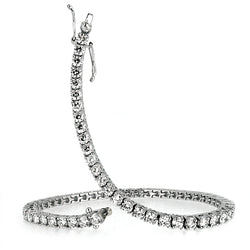 Diamond line bracelet in 18ct white gold, 4.19ct