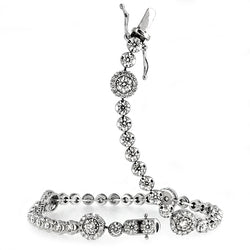 Diamond bracelet in 18ct white gold, approximately 2.60ct