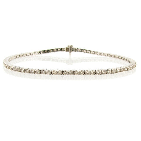 Wristwear - Diamond tennis bracelet in 18ct white gold, 3.02ct  - PA Jewellery