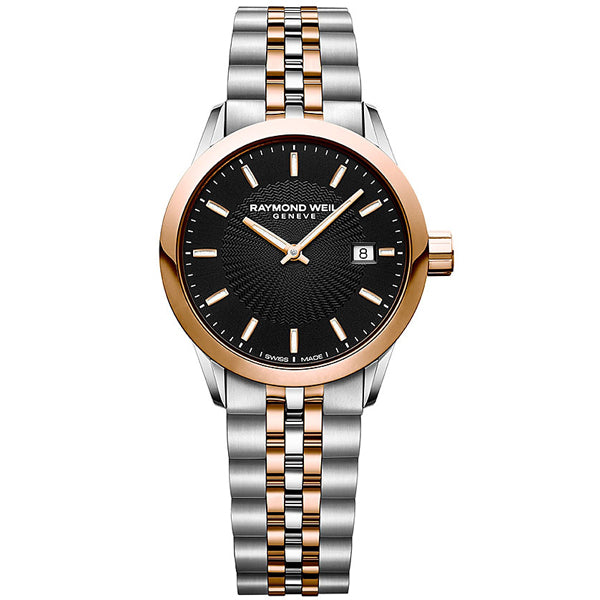 Ladies' Raymond Weil Freelancer in two tone stainless steel 5629-SP5-20021