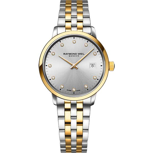 Ladies' Raymond Weil Toccata in two tone stainless steel 5985-STP-65081