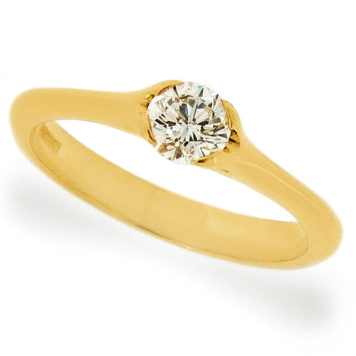 Ring - Diamond solitaire ring in 18ct yellow gold, 0.36ct  - PA Jewellery