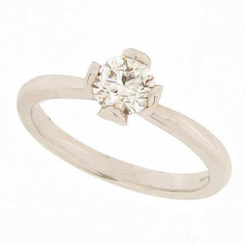 Ring - Brilliant cut diamond solitaire ring in platinum, 0.50ct  - PA Jewellery