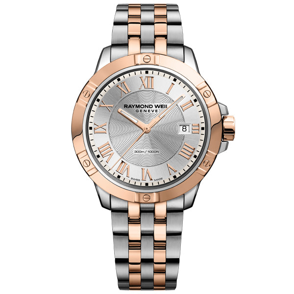 Men's Raymond Weil Tango in stainless steel and rose PVD 8160-SP5-00658