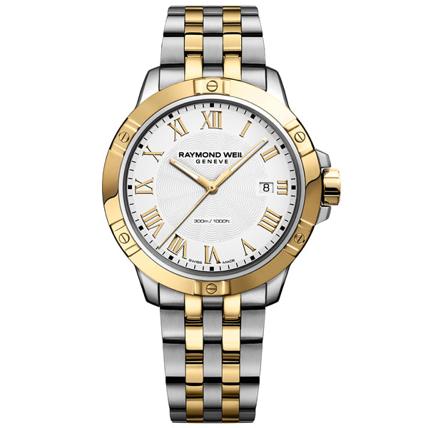 Men's Raymond Weil Tango in stainless steel and yellow PVD 8160-STP-00308