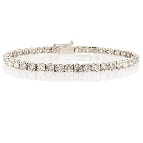 Wristwear - Diamond tennis bracelet in 18ct white gold, 10.66ct  - PA Jewellery