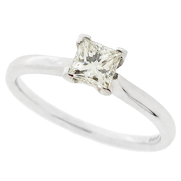 Princess cut diamond solitaire ring in 18ct white gold, 0.51ct