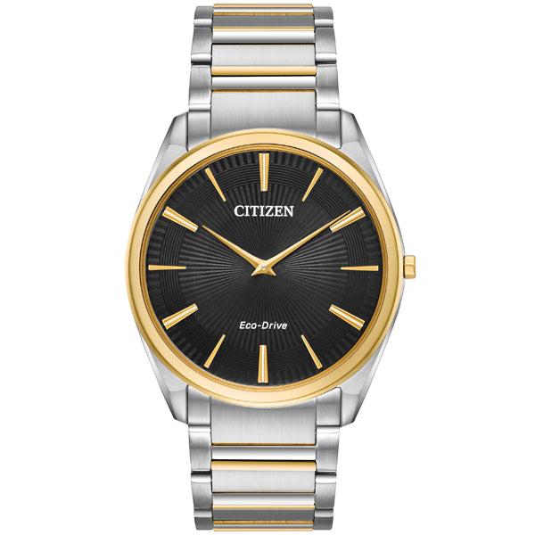 Men's Citizen Stiletto Eco-Drive in two tone stainless steel AR3074-54E
