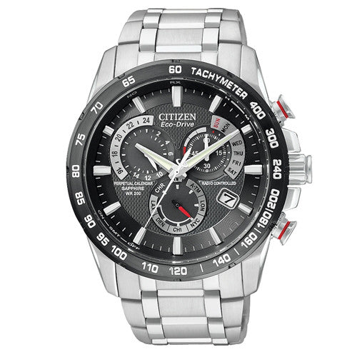 Watch - Men's Citizen Perpetual Chrono A-T in stainless steel AT4008-51E  - PA Jewellery