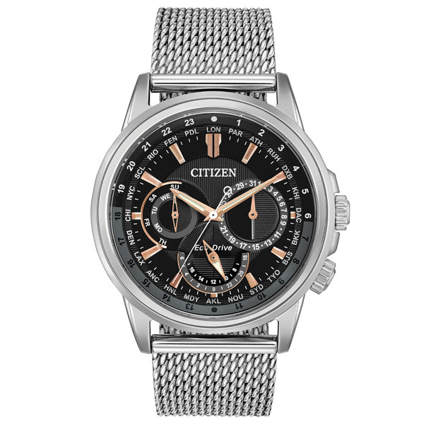 Men's Citizen Calendrier in stainless steel BU2020-70E