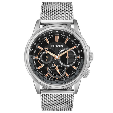 Citizen Calendrier in stainless steel BU2020-70E