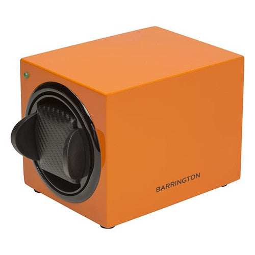 Watch accessory - Single watch winder box, Burnt Amber  - PA Jewellery