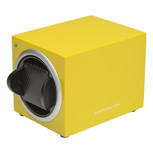 Watch accessory - Single watch winder box, Electric Yellow  - PA Jewellery