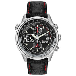 Citizen Red Arrows Chronograph in stainless steel on leather CA0080-03E