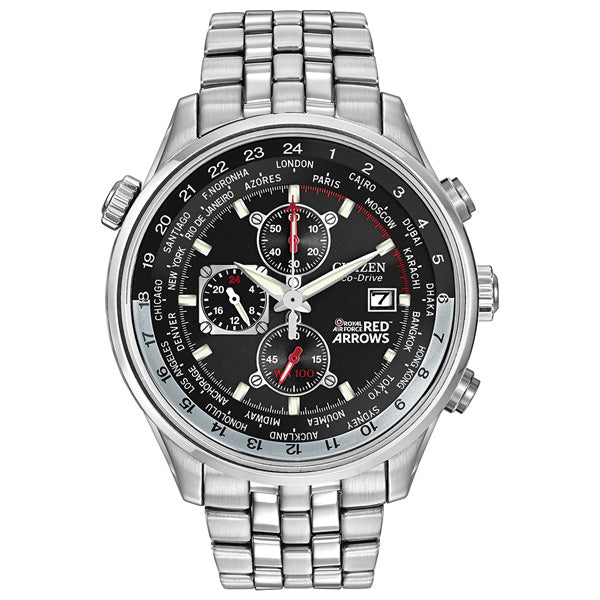 Men's Citizen Red Arrows Chronograph in stainless steel CA0080-54E