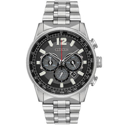 Citizen Nighthawk Eco-Drive in stainless steel CA4370-52E