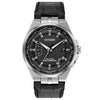 Men's Citizen World Perpetual AT in stainless steel on leather CB0160-00E