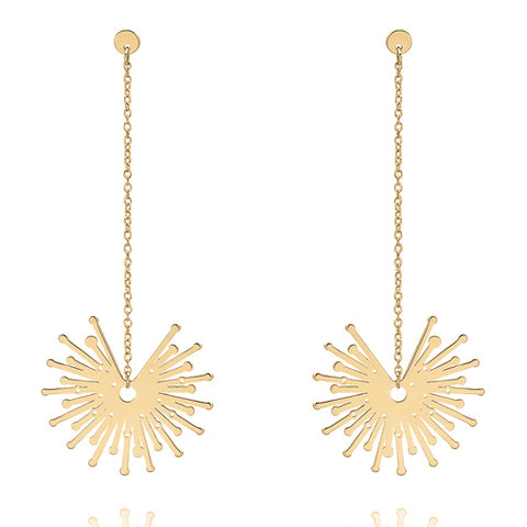 'Sparkler' drop earrings in 9ct gold