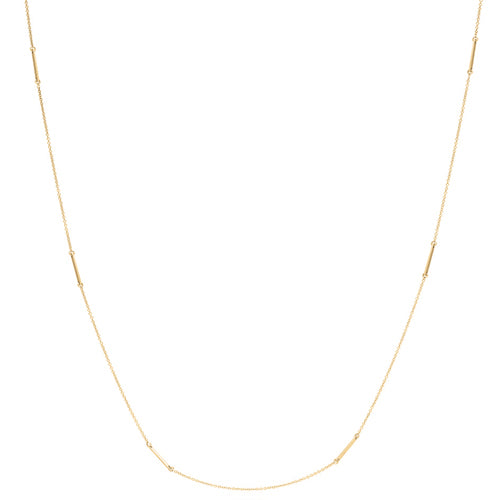 Bar detail necklace in 9ct gold