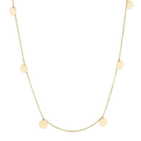 Disc detail necklace in 9ct gold