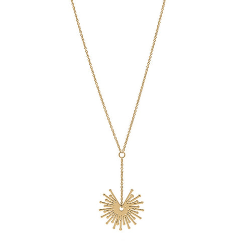 'Sparkler' drop necklace in 9ct gold