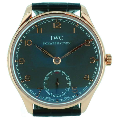 IWC Portuguese in 18ct rose gold and leather IW545406