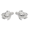 Turtle stud earrings in silver
