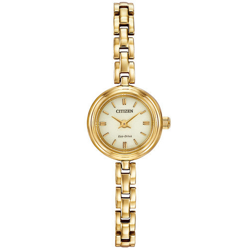 Watch - Ladies' Citizen Silhouette in yellow gold plated stainless steel EG2848-57P  - PA Jewellery