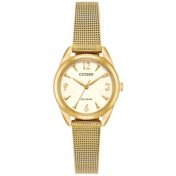 Ladies' Citizen Eco-Drive in yellow gold plated stainless steel EM0682-58P