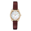 Ladies' Citizen in rose gold plated stainless steel on leather EM0683-04D