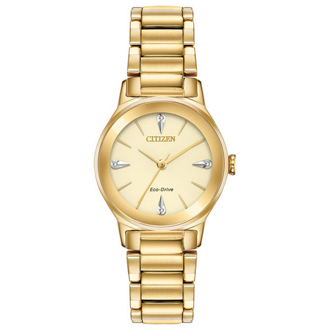 Ladies' Citizen Axiom in yellow gold plated stainless steel EM0732-51P