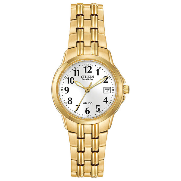 Ladies' Citizen Eco-Drive in yellow gold plated stainless steel EW1542-59A