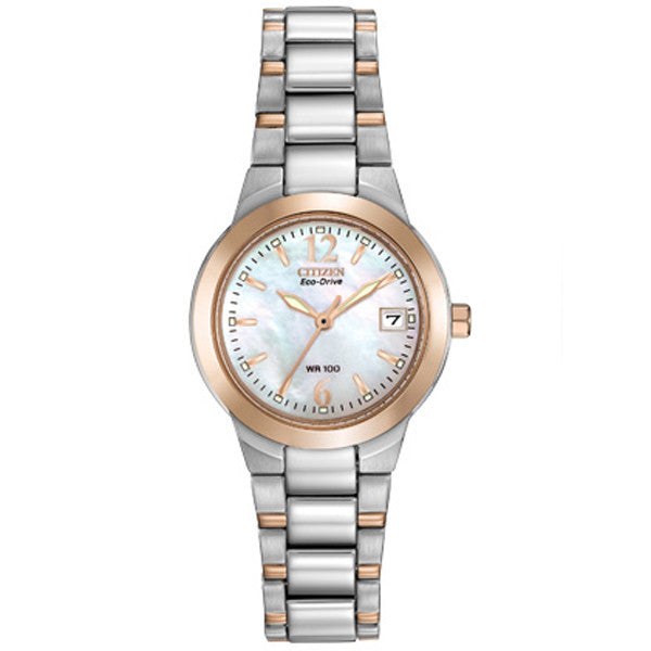 Ladies' Citizen Silhouette in two tone stainless steel EW1676-52D