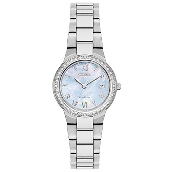 Ladies' Citizen Silhouette Crystal in stainless steel EW1990-58D