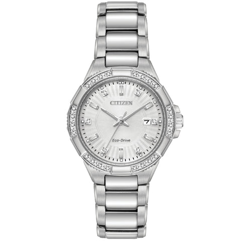 Ladies' Citizen Riva 24 Diamonds Eco-Drive in stainless steel EW2460-56A