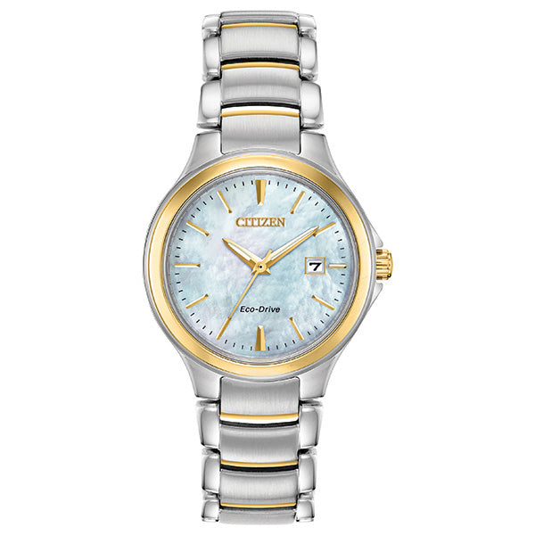 Ladies' Citizen Silhouette in two tone stainless steel EW2524-55N