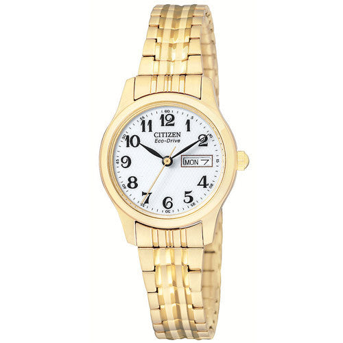 Watch - Ladies' Citizen in yellow gold plated stainless steel EW3152-95A  - PA Jewellery