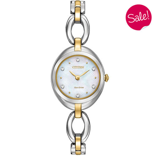 Ladies' Citizen Silhouette Crystal in two tone stainless steel EX1434-55D