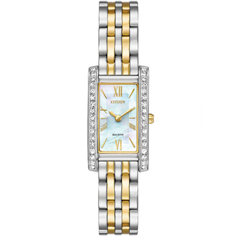 Watch - Ladies' Citizen Silhouette Crystal in two tone stainless steel EX1474-85D  - PA Jewellery
