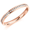 Ring - Round brilliant cut diamond channel set full eternity ring, 0.33ct  - PA Jewellery