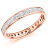 Ring - Princess cut diamond channel set full eternity ring, 2.05ct  - PA Jewellery