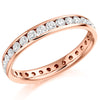 Ring - Round brilliant cut diamond channel set full eternity ring, 1.04ct  - PA Jewellery