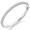Ring - Round brilliant cut diamond micro claw set full eternity ring, 0.50ct  - PA Jewellery