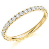 Ring - Round brilliant cut diamond micro claw set full eternity ring, 0.75ct  - PA Jewellery