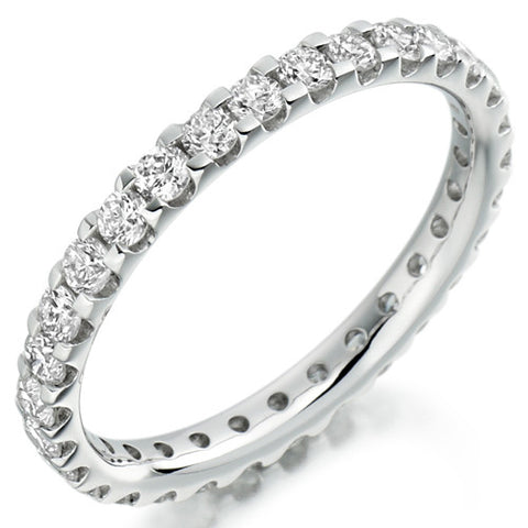 Ring - Round brilliant cut diamond micro claw set full eternity ring, 1.00ct  - PA Jewellery