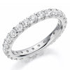 Ring - Round brilliant cut diamond micro claw set full eternity ring, 1.50ct  - PA Jewellery
